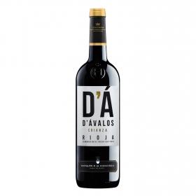 Vino D.O. Rioja tinto crianza D'avalos Marqués de la Concordia etiqueta negra Berberana 75 cl.