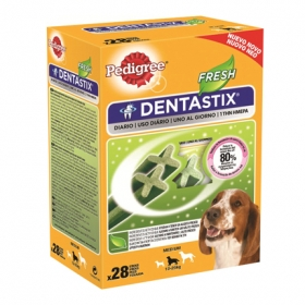 Pedigree Dentastix Fresh. Pack Mensual de 28 barritas
