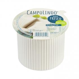 Queso fresco natural Campolindo 500 g.