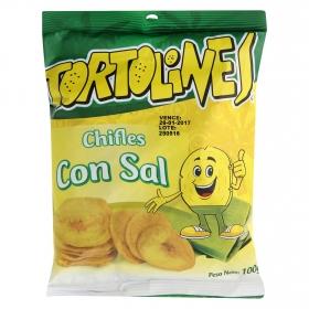 Snacks chifles con sal Tortolines 105 g.