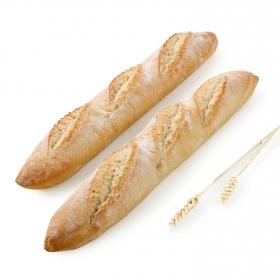 Barra de pan rústica Carrefour 2 unidades de 250 g.