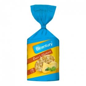Tortita de maíz con queso y albahaca