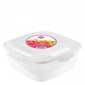 Hermetico Cuadrado  de Plástico Übik 0,5 L. Transparente