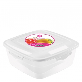Hermetico Cuadrado  de Plástico Übik 1 L. Transparente