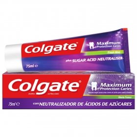 Dentífrico maximum protección caries menta fresca Colgate 75 ml.