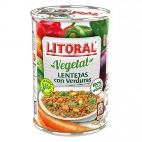 Lentejas con verduras Litoral 430 g.