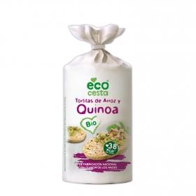 Tortitas de arroz y quinoa ecológicas Ecocesta 120 g.