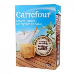 Detergente de Marsella en polvo Carrefour 100 lavados.