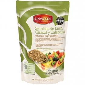 Semillas de lino, girasol y calabaza ecológicas molidas Linwoods 200 g.
