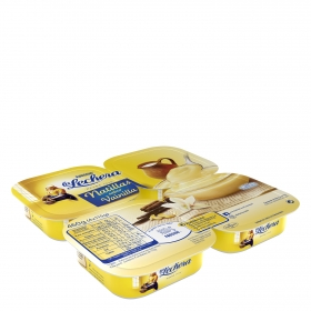 Natillas de vainilla Nestlé La Lechera pack de 4 unidades de 115 g.