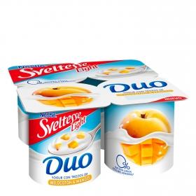 Yogur con trozos de melocotón y mango light