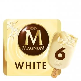 Helado de chocolate blanco sin gluten