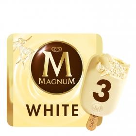 Bombón helado White Magnum sin gluten  pack de 3 unidades de 110 g.