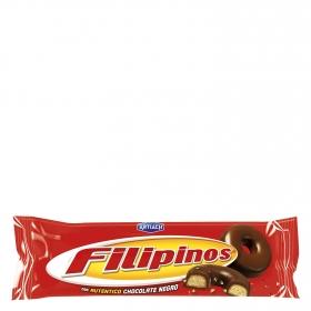 Filipinos con chocolate negro 100 g.