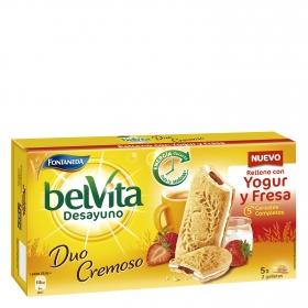 Gallega con relleno de yogur con fresa Belvita