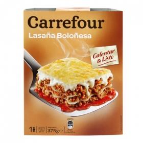 Lasaña boloñesa Carrefour 375 g.