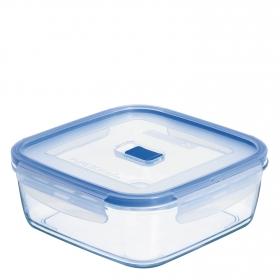 Recipiente Hermetico Cuadrado  de Cristal Pure Box Active 1,2 L. Transparente