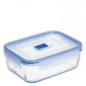 Recipiente Hermetico Rectangular de Cristal  Pure Box Active 1,22 L.  Transparente