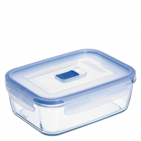 Recipiente Hermetico Rectangular de Cristal  Pure Box Active 1,970L. Transparente