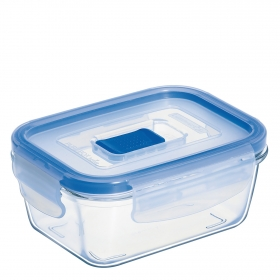 Recipiente Hermetico Rectangular de Cristal  Pure Box Active 0,38 L. Transparente