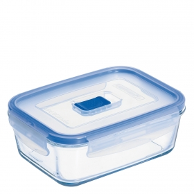 Recipiente Hermetico Rectangular de Cristal  Pure Box Active 0,82 L. Transparente