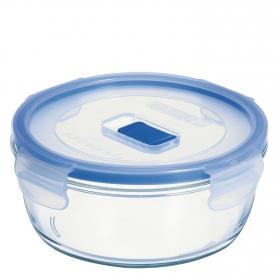Recipiente Hermetico Redondo de Cristal LUMINARC Pure Box Active 0,92 L. - Transparente