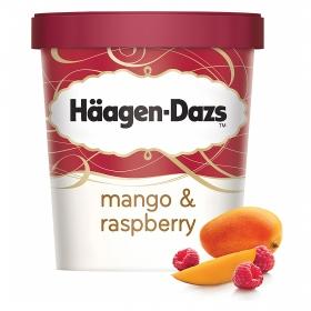 Helado de mango y raspberry tarrina