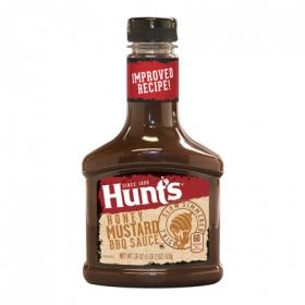 Salsa barbacoa con miel y mostaza Hunt's botella 510 g.