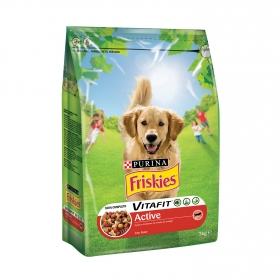 Purina Friskies Vitafit Active Pienso para Perro Adulto Buey 3Kg