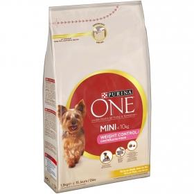Purina ONE MINI Perro Weight Control Pienso para Perro Adulto Pavo y Arroz 1,5kg