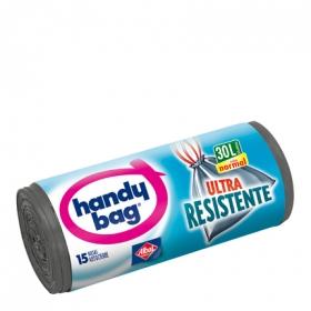 Bolsas de Basura Ultra Resistentes HANDY BAG 30l 15 ud - Gris