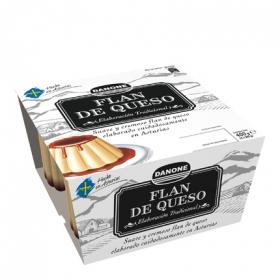 Flan de queso hecho en Asturias