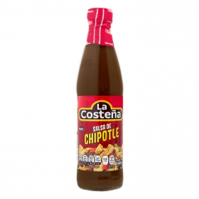 Salsa de chile chipotle La Costeña botella 145 g.