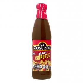 Salsa de chile chipotle La Costeña botella 145 g.