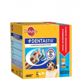 Pedigree Dentastix. Pack Mensual de 56 barritas