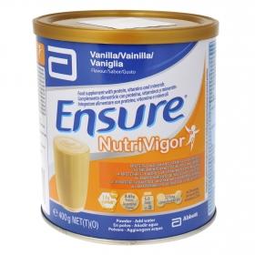 Complemento alimenticio con proteína y vitaminas de vainilla