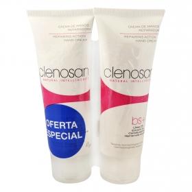 Crema de manos reparadora Clenosan pack de 2 unidades de 75 ml.