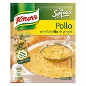 Sopa de pollo con cabello de ángel Knorr 71 g.