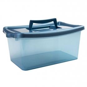 Caja de ordenación  de Plástico  29 x 19 x 13 cm  Azul