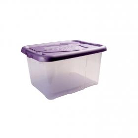 Caja de ordenación  de Plástico  40 x 32 x 23 cm  Morado