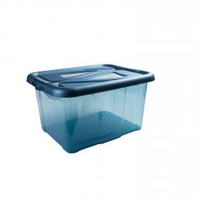 Caja de ordenación  de Plástico Carrefour 40 x 32 x 23 cm - Azul