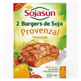 Burguers de soja Provenzal Sojasun pack de 2 unidades de 100 g.