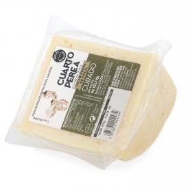 Queso curado de oveja en aceite de oliva Cuarto Perea cuña de 1/4, 125 g aprox