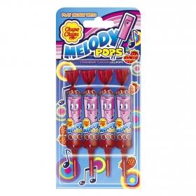 Caramelo con palo Melody Pops Chupa Chups 4 ud.