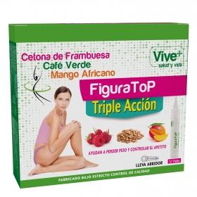 Complemento alimenticio  Figura Top Vive Plus pack de 12 viales de 10 ml.
