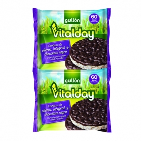 Tortitas de arroz integral y chocolate negro Vitalday