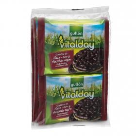 Tortitas de maíz con chocolate negro Gullón Vitalday 100 g.