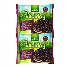 Tortitas de maiz y chocolate negro Vitalday