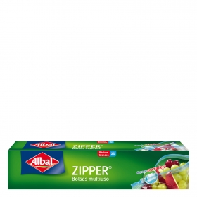 Bolsas multiusos con cierre cremallera Zipper 3l. Albal 8 ud.