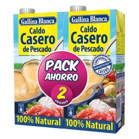 Caldo casero de pescado Gallina Blanca pack de 2 unidades de 1 l.